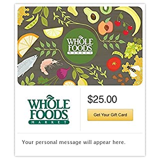 Whole Foods Market Gift Cards - E-mail Delivery (B00MV9P8MS) | Amazon price tracker / tracking, Amazon price history charts, Amazon price watches, Amazon price drop alerts
