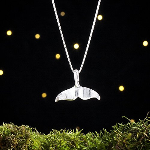 Sterling Silver Whale Tail - Nautical Beach Summer Jewelry - (Pendant or Necklace) ()
