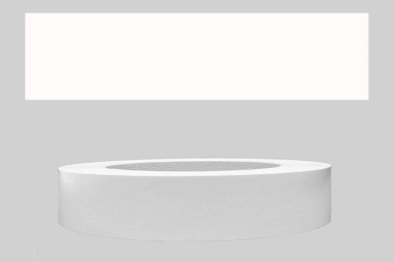 Mprofi (10m rollo) Cantoneras laminadas melamina para rebordes con Greve Blanco Liso 22 mm