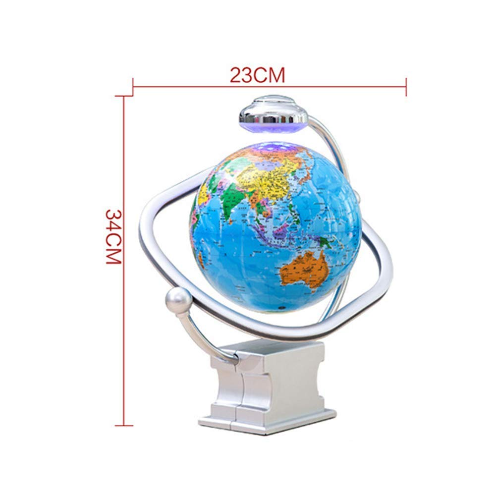 Children Gifts,8 Inches,D Anti Gravity Floating Decoration Magnetic Levitation Floating Globe World Map,Creative Desk Decoration