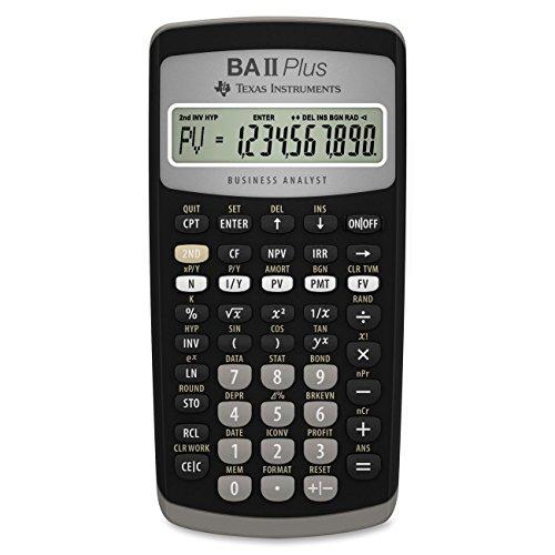 Texas Instruments BA II Plus Financial Calculator (3, Black) by Texas Instruments