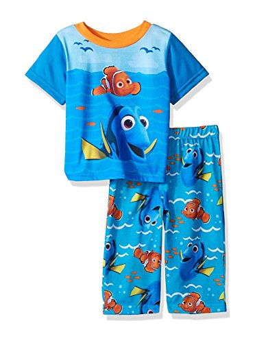 2 Finding (Disney Boys' Finding Dory Sun and Waves 2-Piece Pajama Set, Aqua Blue, 18M)