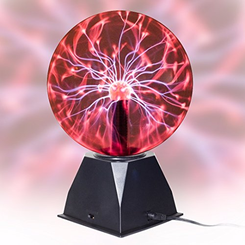 "[UMR True 8"" Plasma Ball Lamp – Large Electric Globe Static Light w/ Touch & Sound Sensitive Lightning, Big 8 Inch Glass Sphere, & Mini Tesla Energy Coil is Best Science Toy + Nightlight for] (Dollar Jumbo Glasses)"