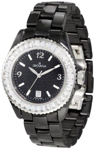 Grovana Women's 4000.7187 Fashion Analog Black Watch
