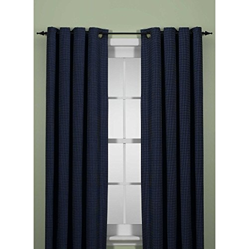 Union Square 108 Inch Grommet Top Window Curtain Panel in Indigo