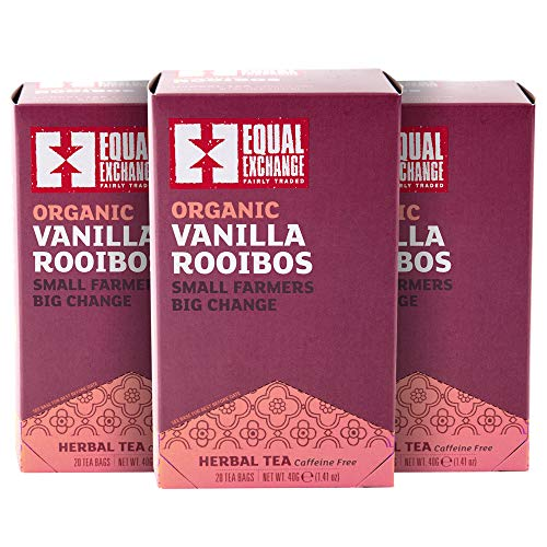 Equal Exchange Organic Vanilla Rooibos Tea, 20-Count (Pack of 3)