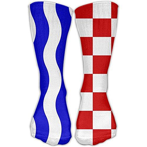 Chuanwang Croatian Flag Athletic 30cm Stockings Ankle Socks Sport Casual Socks Cotton Crew Socks Long Sock One - To Netherlands Usps Shipping