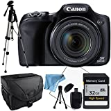 Canon PowerShot SX530 + 32GB SDHC Class 10 High Speed Memory Card, Full Size Tripod, Camera Case, Reader , Table Top Tripod and More
