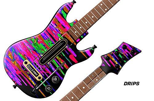 Decal Sticker for Guitar Hero Live Guitar Controller - Drips (Guitar Decal Hero)