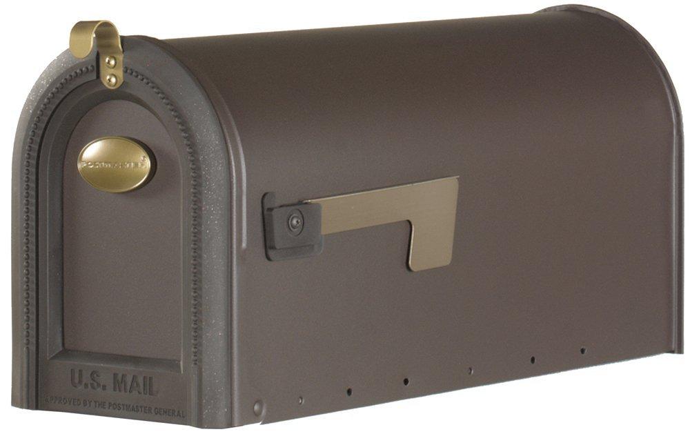 Gibraltar Mailboxes Windmere Large Capacity Galvanized Steel Venetian Bronze, Post-Mount Mailbox, MB420R