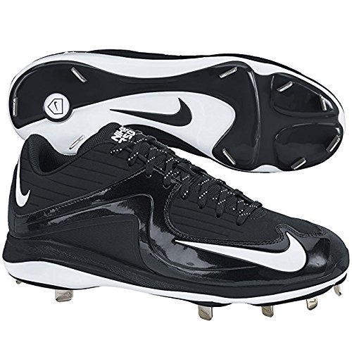 Nike Mens Air MVP Pro Metal II Baseball Cleats (14, Black/White)