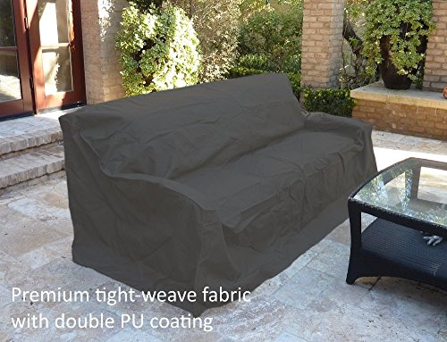 Weave Sofa (Premium Tight Weave Patio Sofa Cover with Velcro up to 80