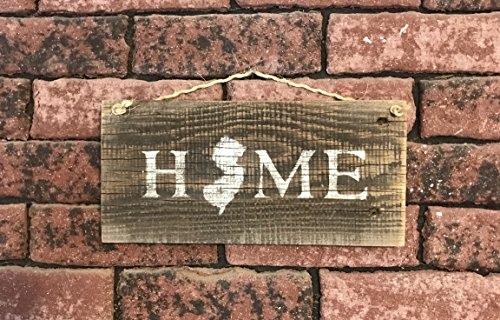 New Jersey State Home Barn Wood Signs