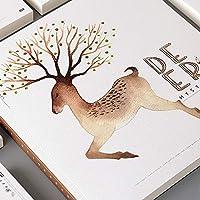 Sketch Book 1 Piece Deer Pattern Cover Cute Kids Stationery