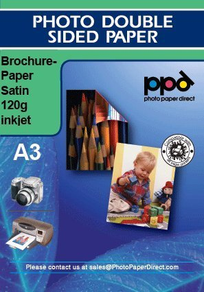 PPD Inkjet Satin Double Sided Brochure Paper A3 (11.7x16.5