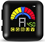 Guitar Tuner, Rechargeable Clip-on Tuner 360 Degree Rota-table Colorful Display Digital Tuner for Guitar / Bass / Violin / Ukulele / Chromatic Tuning with USB Cable