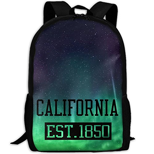 California Est 1850 Interest Print Custom Unique Casual Backpack School Bag Travel Daypack Gift