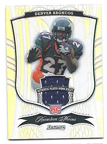KNOWSHON MORENO 2009 Bowman Sterling #165 REFRACTOR PARALLEL JERSEY RC Rookie Card #040 of only 199 Made! Denver Broncos Football