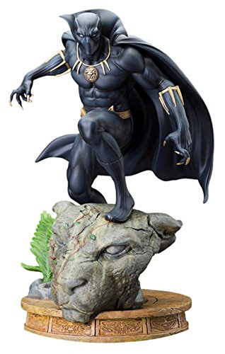[Kotobukiya Marvel: Black Panther Fine Art Statue] (Black Panther Costume Marvel)