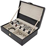 Valet Watches Jewelry Box Leather Storage Case Tech Swiss