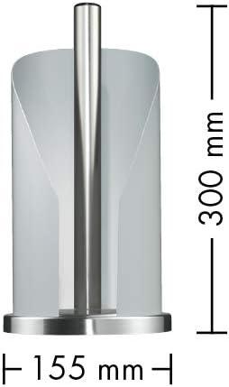 /Portarrollos Chapa de Acero pulverizado /76/ WESCO 322/104/ 15,5/x 15,5/x 30.0/cm, Gris