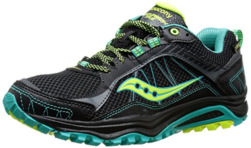 Saucony Excursion TR9 GORE-TEX Women's Zapatillas Para Correr - SS16 Black/Teal/Citron