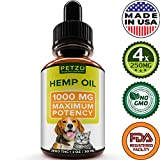 Hemp Oil for Dogs and Cats - 1000mg - Premium Hemp Extract - Advanced...