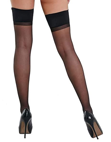 8bf39939c74 Charnos Woman s Sheer Lustre Gloss Thigh-highs at Amazon Women s ...