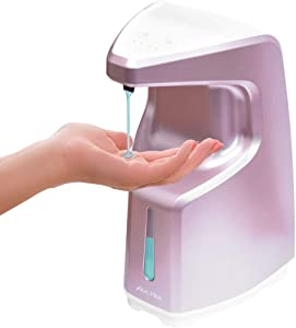 Aultra Automatic Hand Sanitizer Dispenser Touchless - Hand Soap Holder & Dish Liquid for Wall Mounted Or Counter top Bathroom, Kitchen, & Home, Hand & Motion Sensor Control