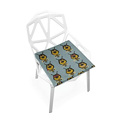 HUAPIN Outdoor Seating Cushions Honey Flower Heart Bee and Hive Soft Non-Slip Memory Foam Chair Pads Cushions Seat for Home Kitchen Office Desk 16x16 Inch Beach Chair Mat: Home & Kitchen
