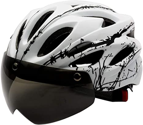 RENNICOCO Casco de Bicicleta, Casco de Ciclismo Estándar de Seguridad Ajustable Casco de Escalada de Bicicleta Casco de Bicicleta Casco de Ciclismo de ...
