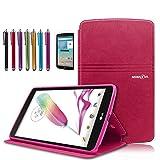 Mignova LG G Pad F 8.0 / G Pad II 8.0 Folio Case - Premium PU Leather Cover [Fit (4G LTE AT&T Model V495 / T-Mobile Model V496 / US Cellular Model UK495) & G Pad 2 8.0 V498] 8-Inch Tablet (Pink)