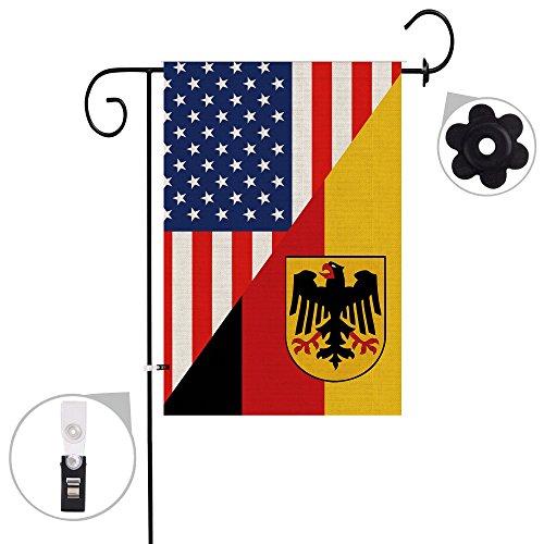 Bonsai Tree burlap german Garden Flags 12x18 prime double-si