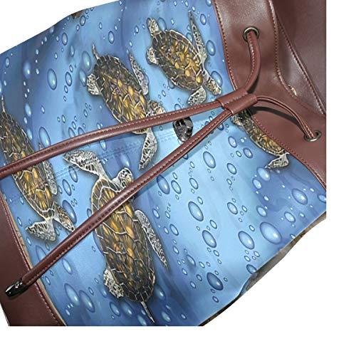 Sköldpadda ryggsäck handväska mode PU-läder ryggsäck ledig ryggsäck för kvinnor