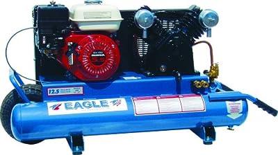 Eagle TT55GE 10-Gallon Honda Portable Cast Iron Air Compressor