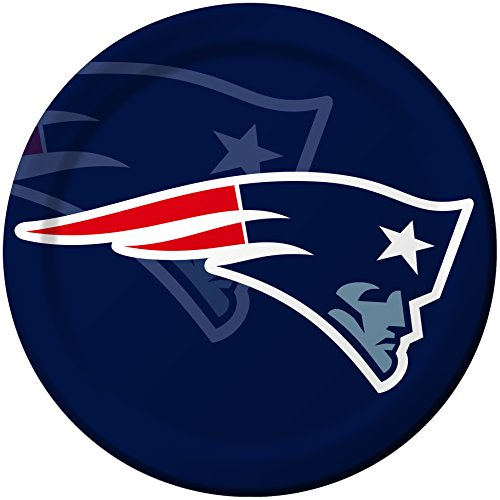 Creative Converting 8 Count New England Patriots Paper Dinner Plates (Patriots Party Supplies)