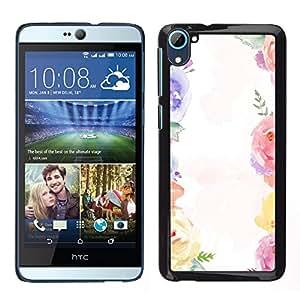 For HTC Desire D826 , S-type® Bouquet White Spring Girly - Arte & diseño plástico duro Fundas Cover Cubre Hard Case Cover