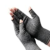 Vinmax Arthritis Gloves Thermal Fingerless Gloves Cotton and Spandex Arthritis Rehabilitation Bumps Training Nursing Grip Gloves For Hands Warm & Arthritic Pain Relief (L)