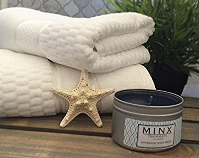 Lightning Deal of the Day! MINX Fragrances® Scented Candle Travel Candle in Tins Choose from: Sunrise Citrus & Lime, Afternoon Ocean Breeze, Midnight Pomegranate Acai or White Musk Gift Packaged!