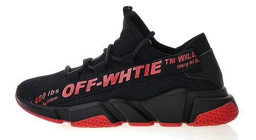Off White Balenciaga Speed Stretch Knit Sock Trainer Red Zapatillas de Running para Hombre Mujer: Amazon.es: Zapatos y complementos