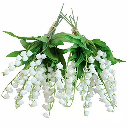 Bouquet Lily Valley The Of (Htmeing Artificial Lily of The Valley Flowers Bush for Home Garden Wedding Decoration (12pcs))