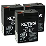 6 volt trailer battery - Peg Perego Case Ih Lil Tractor & Trailer IGED1112 6V 4.5Ah SLA Sealed Lead Acid AGM Rechargeable Replacement Battery Genuine KEYKO (W/F1 Terminal) - 3 Pack