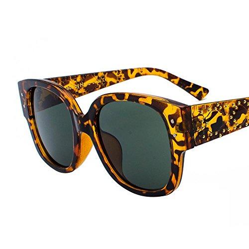 Aoligei Rivet cadre grande marée féminine de lunettes de soleil lunettes de soleil mode ronde visage lunettes de soleil 4xMnv9