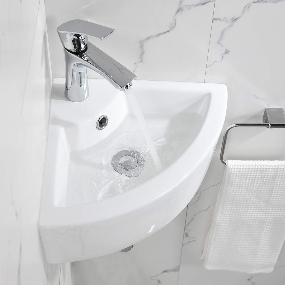 White Bathroom Sink with Brushed Nickel Faucet and Pop Up Drain Bokaiya 24x16 Vessel Sinks and Faucet Combo Modern Rectangle Bathroom Above White Porcelain Ceramic Vessel Vanity Sink Art Basin