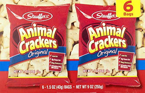Stauffers Original Animal Crackers 6 Count Box (3 Boxes)