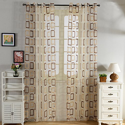 Top Finel Geometric Treatments Curtains