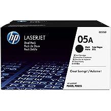 HP 05A (CE505A) Black Toner Cartridge, 2 Toner Cartridges (CE505D) for HP LaserJet P2055 P2055d P2055dn P2055x