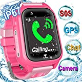 Kid Smart Phone Watch - IP67 Waterproof Accurate GPS Tracke for Girls Boys Back to School Gift Smartwatch with Game SOS Call Camera Electronic Learning Toys for Travel Sport Outdoor Camping Birthday