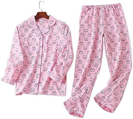 YTNGA Pijamas De Mujer Conjuntos de Pijamas para Mujer Otoño Manga ...