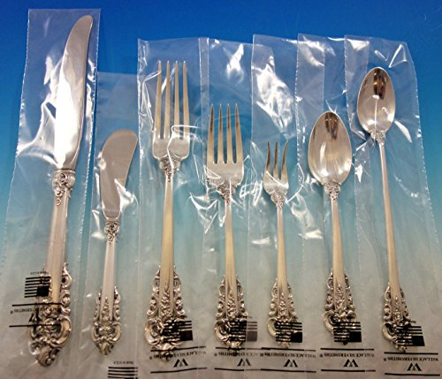 Grande Baroque by Wallace Sterling Silver Flatware Set Service 70 pc Dinner New -